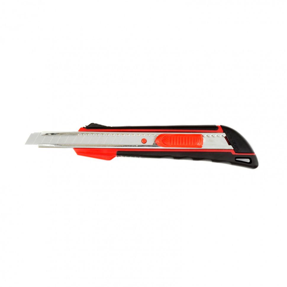 78932 Нож, 9 мм выдвижное лезвие, метал. направляющая, эргоном. двухкомпонентная рукоятка// matrix, 78932 78932