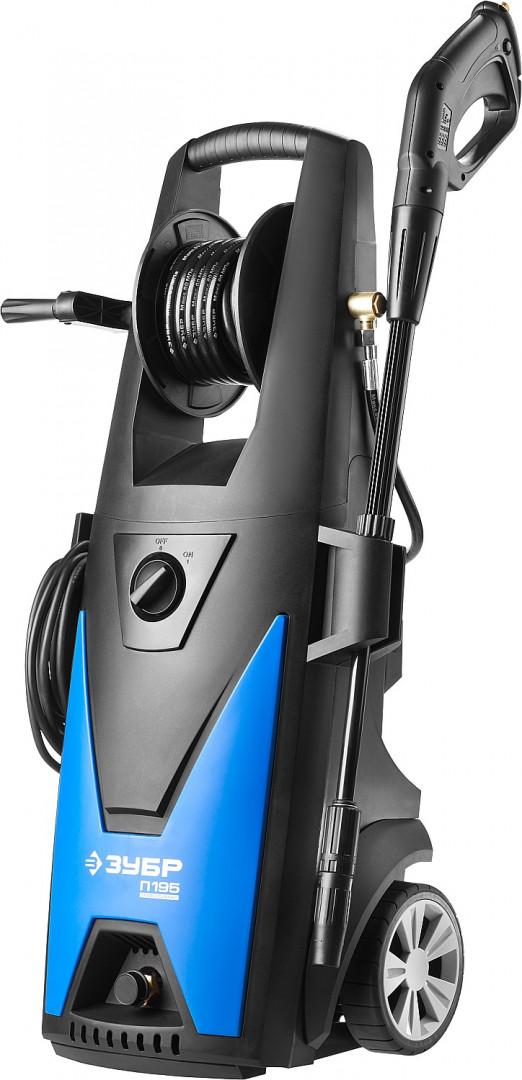 АВД-П195 Мойка высокого давления (минимойка) электр, ЗУБР профессионал авд-п195, макс. 195атм,390л/ч,2500вт,колеса,бесщет двиг,авто-стоп,барабан,пистолет 375 АВД-П195